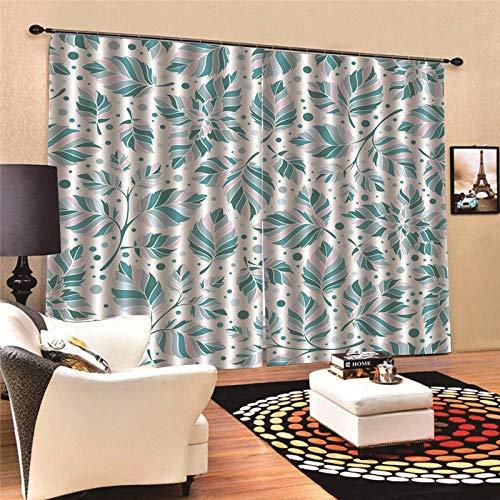Thermo-gordijn, ondoorzichtig, thermo-blad, modern, voor slaapkamer, keuken, kinderen, verduistering, raamdecoratie