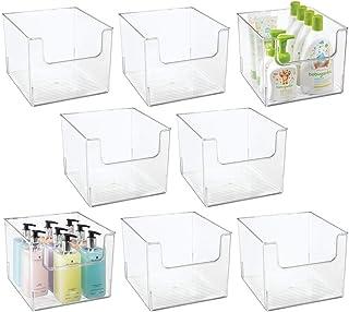 mDesign boîte de Rangement pour Salle de Bain (Lot de 8) – boîte en Plastique en Forme de Cube pour Articles de Salle de B...