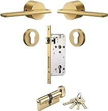 Deurslot Messing deurslot set goud zwart zilver interiror slaapkamer badkamer dubbele houten deur hendel set dummy handgre...