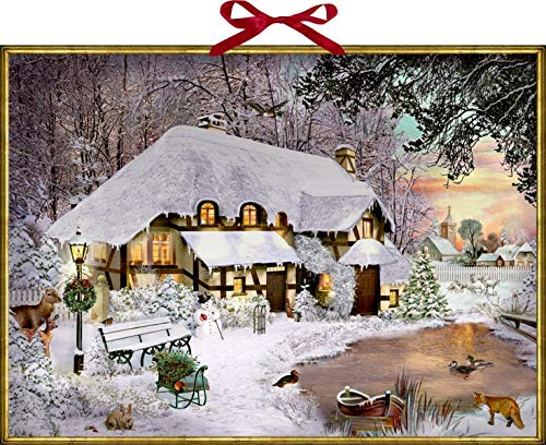 Wandkalender – Winterliches Cottage