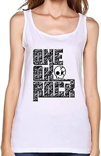 HYRONE Funny Sleeveless Shirt For Women One Ok Rock Logo White