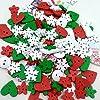 Colori misto Dipinte Bottoni Di Legno Fai Da Te Mestiere Scrapbooking Per Cucito E Natale Decorazione #1