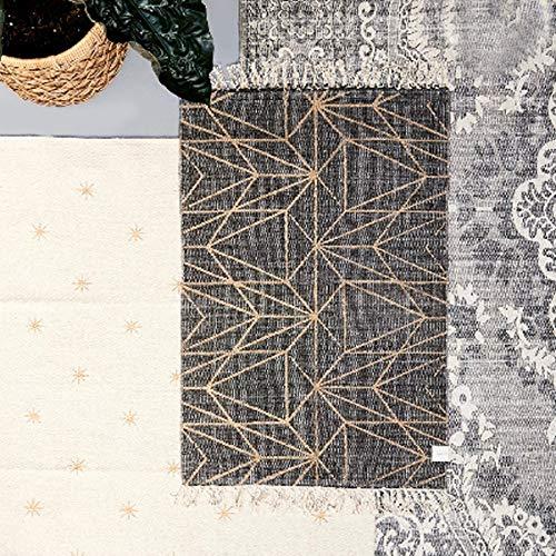 Riviera Maison - Graphic Print - Teppich - Grau - Baumwolle - 90x60