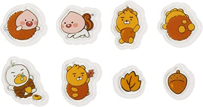 KAKAO FRIENDS Official- Autumn Story Flake Stickers Seals, 24p Set (Ryan)