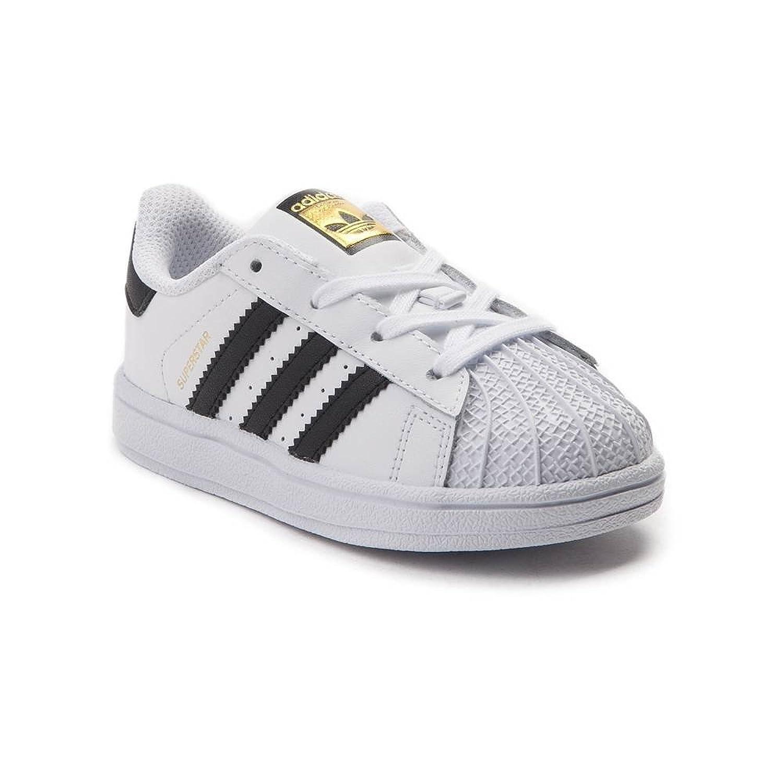 (アディダス) adidas 靴?シューズ キッズスニーカー Toddler adidas Superstar Athletic Shoe White/Black ホワイト/ブラック US 4 (12cm)