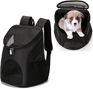 YINGJEE Dog Carrier Backpack Breathable for Small Pets/Cats/Puppies, Pet Carrier Bag with Mesh Ventilation, Safety Features and Cushion Back Support, for Traveling, Hiking, Camping, Walking & Outdoor