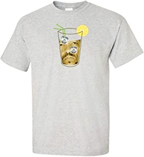 Ice Tea with Ice Cubes Logo T Shirt Funny Tee Grey
