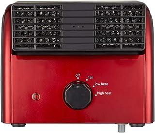 WSYK Calefactor Portátil, con Control De Temperatura, Protección contra Sobrecalentamiento Y Protección Infantil,Rojo