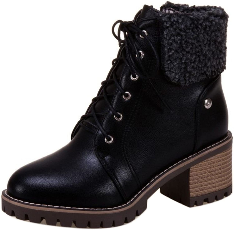 AicciAizzi Women Ankle Boots Block Heel