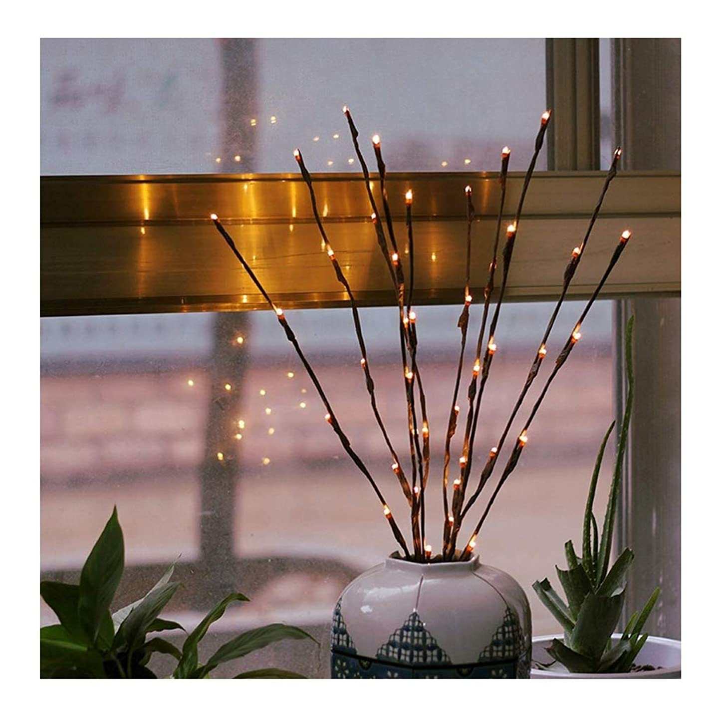 Kecar 20 LED Willow Branch Lamp Twig Branch Tree Lights for Indoor Outdoor Home Christmas Garden Party Wedding Decoration Lights [Ship from USA Directly]