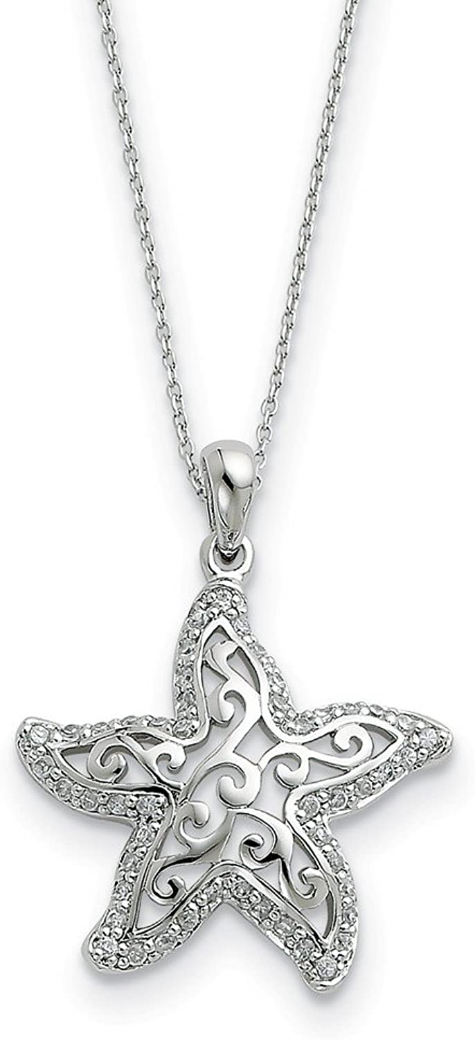 925 Sterling Silver CZ Make A Difference 18in Necklace