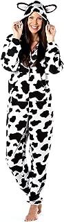 Octave Ladies Cow Design Animal Hooded Onesie Loungewear/Nightwear All in One