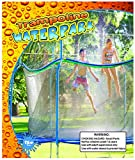 Trampoline Waterpark - Kids Fun Summer Outdoor Water Game Sprinkler - Toys for Boys Girls and Adults - Accessories Included - Toy Attaches on Safety Net Enclosure - Made in The USA