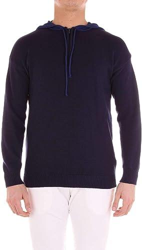 INDIVIDUAL Homme MAU99bleu Bleu Coton Sweatshirt