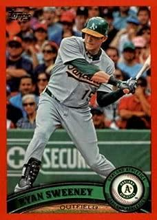 2011 Topps Factory Set Red Border #493 Ryan Sweeney Oakland Athletics MLB Baseball Card /245 NM-MT