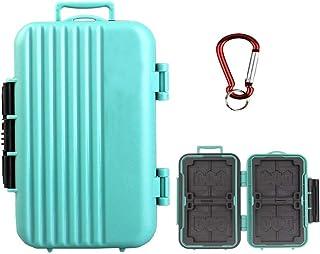 LXH Memory Card Case Holder,SD SDHC SDXC CF TF Memory Card Case Holder Waterproof Carrying Storage Case Holder Box Keeper ...