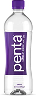Penta Ultra-Purified Water, 700mL (Pack of 24), Oxygen Infused Natural pH Hydration, Solar-Powered 13 Step Purification Process