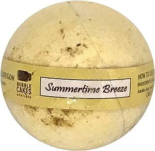 Summertime Breeze Bath Bomb. Tiger Lily, Pineapple, Pears, Calendula Botanicals, Argan Oil, Moisturizing BubbleCake Bath Bomb, Gift for Her, Colors Bath Water Yellow