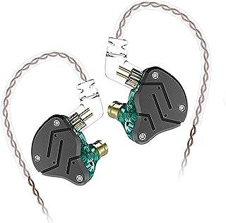 KZ ZSN Hybrid Technology 1BA+1DD HiFi Bass Earbuds in Ear Headphone 3.5mm Jack Earphone (Cyan Without Mic)