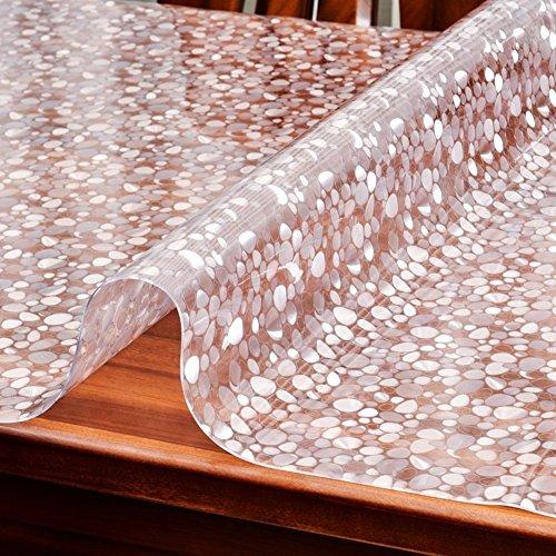 HM&DX PVC Tabelle beschützer Wasserdicht Abwaschbar Hitzebeständig Punktemuster 1.5mm dicken Multi-Size Kunststoff Tischdecken Abdeckung tischmatte Für wohnküche-Punkte 90x140cm(35x55inch)