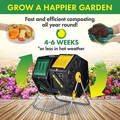 Miracle-Gro Dual Compost Tumbler