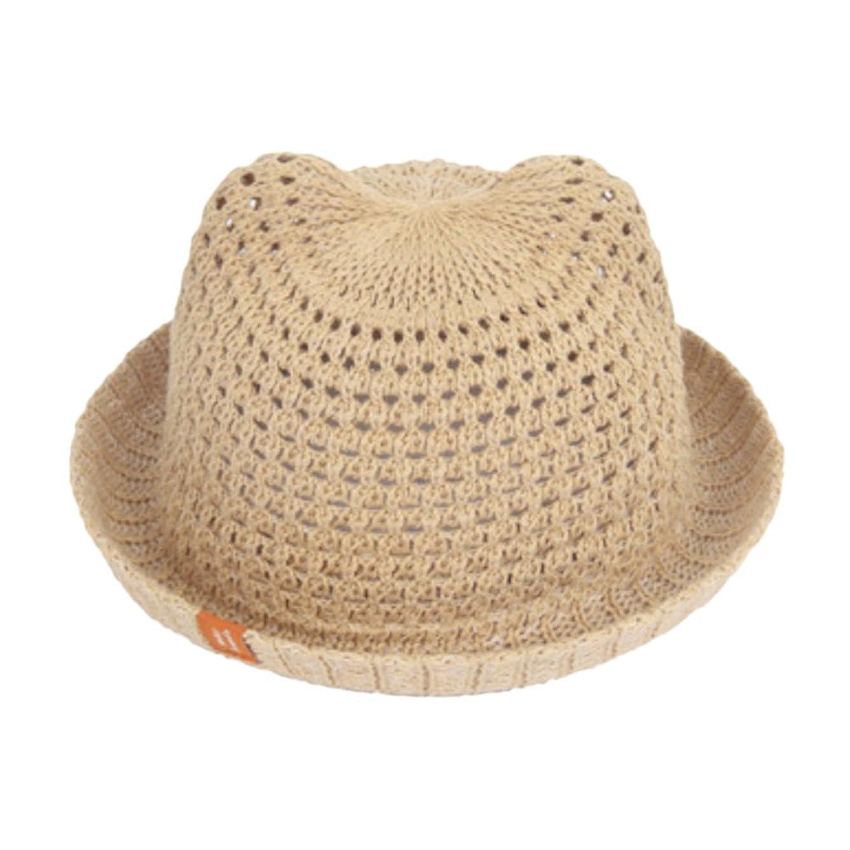 警報招待コーナーange select 耳付き コットン ハット 男の子 女の子 キッズ ベビー 帽子