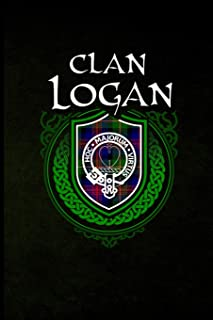 Clan Logan: Scottish Clan Tartan Family Crest - Blank Lined Journal with Soft Matte Cover