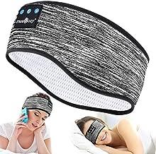 Sleep Headphones Wireless Bluetoth Headband, TOPOINT Music Sports Sleeping Headband Headphones for Workout, Jogging, Yoga (Grey1)