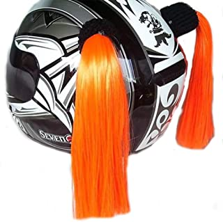 Helmet Pigtail Helmet Ponytail with Suction CUP for Motorcycle Bicycle #5