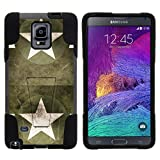 TurtleArmor   Compatible with Samsung Galaxy Note 4 Case   N910 [Gel Max] Impact Proof Cover Hard Kickstand Hybrid Fitted Shock Silicone Shell Military War Army Camo - Military Stars