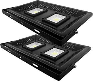 2PCS/Pack-ECOL 100W Outdoor LED Flood Light, LED Security Light, Day Light White,250W HID or HPS Replacement