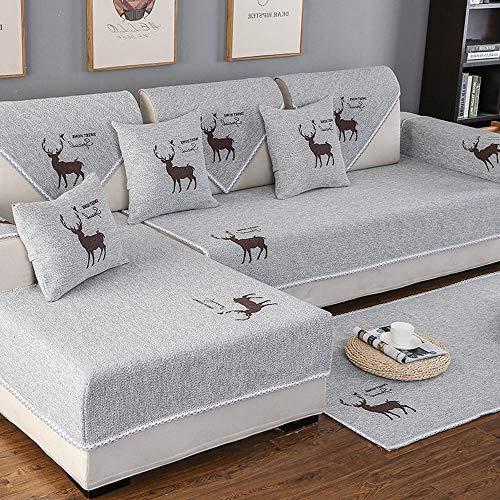 QQDL Sofabezug Sofaüberwürfe für Couch Stretch Sofahusse Sofa Elastisch Sofa Überwürfe Sofabezug 1/2/3/4 Sitzer Sofabezug Sofaüberwurf Elastisch Hautfreundlich Sectional Sofa Couch Cover