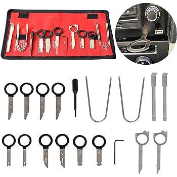 【12 Pcs】Universal Installer Pry Tool Auto Trim Removal outils kit Outil D/émontage Garniture Installation Audio Int/érieure Suppression Renovation Trim pour panneau//autoradio//accessoires//porte