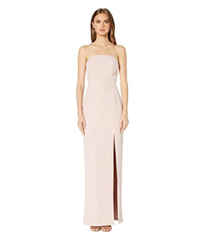 WAYF The Mila Strapless Gown (Nude Rose) Women