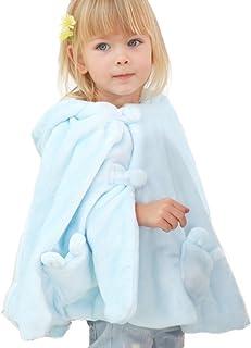 LETTAS Baby Toddler Infant Fleece Hoodie Easter Poncho Rabbit Ears Cape Coat Cloak