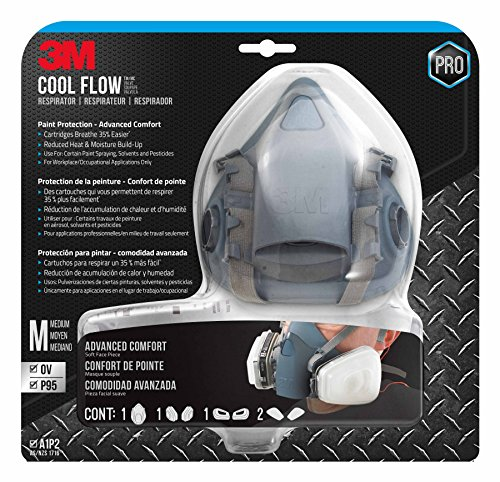 3M Medium Professional Paint Respirator, 7512PA1-A-NA