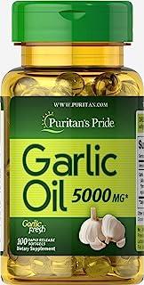 Puritan's Pride Garlic Oil 5000 mg-100 Rapid Release Softgels