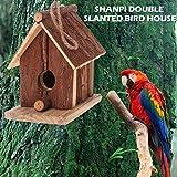 Nichoir pour Oiseaux Exterieur, Maison, Nid pour Oiseaux, Mésanges en Bois, Extérieur, Décoration Jardin, Terrasse ou Balcon
