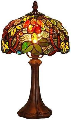 Lampe de table Xuan - Worth Having décorative de café de Lampe de Tableau de Chevet de Chambre à Coucher Classique décorative de Raisins de Verre (Taille : 20 * 37cm E14)