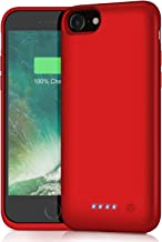 Battery Case for iPhone 8/7/6s/6/SE(2020),[6000mAh] Protective Portable Charging Case Rechargeable Charger Case Extended B...