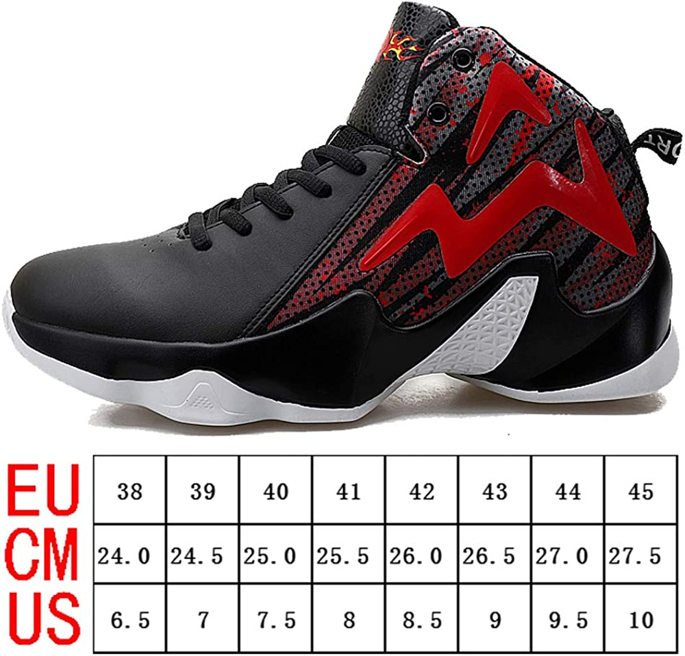 T/&F Basketball Shoes Mens Womens High Upper Air-Cushion Shock Absorption Comfortable Non-Slip Wear Resistant Running Shoes Sports Shoes Sneakers