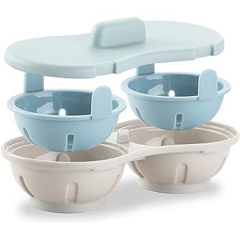 Egg Poacher Microwave, Poached Egg Maker Dishwasher Safe BPA Free, Egg Cooker Poached Egg Steamer, Home Kitchen Gadget Gift
