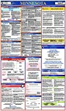 NMC LLP-MN Labor Law Poster – Minnesota, 24 in. x 40 in, Laminated Paper Poster for State/Federal Regulations, Health Safety Information, Employee Rights