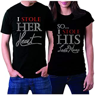 picontshirt Matching Couple Shirts just Married Couples for Husband and Wife Gift Wedding, Anniversary, Newlywed