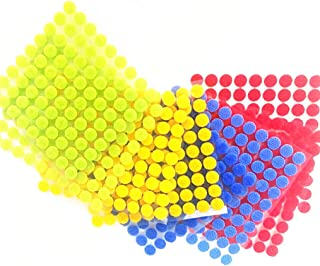 Hooks and Self-Stick Loops Home Use Color 500 Pairs of Glue on Sticky Nylon Dot Glue Waterproof Fastener Tape for