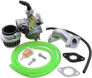 GOOFIT PZ19 Carburetor with Air Filter Carburetor Rebuild Kit for Honda XR/CRF 50cc 70cc 90cc 110cc 125cc Moped ATV POLARIS Taotao Sunl Roketa Baja Kazuma Green
