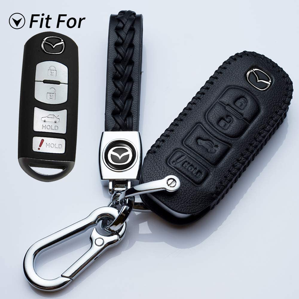 Hey Now on sale Kaulor for Mazda Key Fob Keyless Today's only Cover Jacket Case Holder Pr