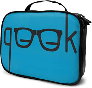 G.ee.k Travel Toiletry Bag, Cosmetic Organizer Pouch, Makeup Bag Clutch Purse