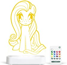 Aloka Fluttershy My Little Pony Starlight - Color Change 12 Color Pattern LED Decorative Night Light for Kids with Remote