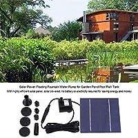 7V 1.2Wソーラーウォーターファウンテンポンプパワードバードバスファウンテンキット用ガーデン屋外浮遊植物散水
